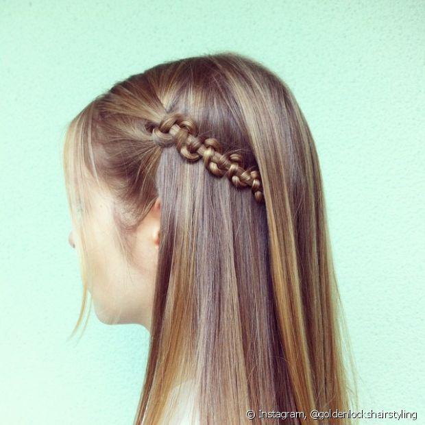 Existem muitos estilos de trançados embutidos para você explorar e testar com o cabelo solto