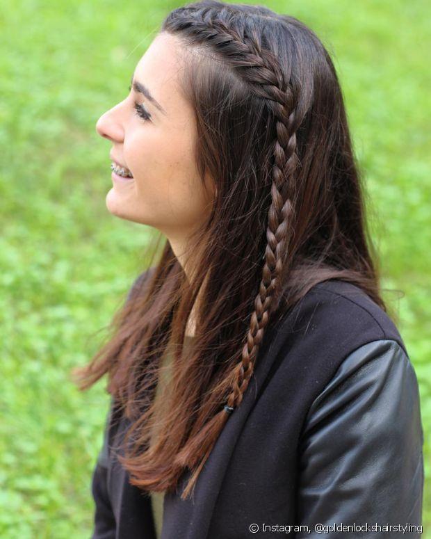 O penteado é perfeito para inovar o visual do dia a dia