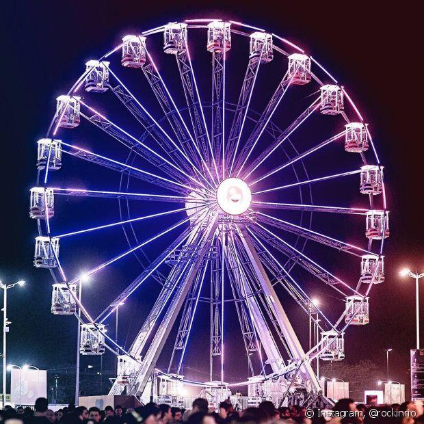 A roda gigante também continuará sendo uma das principais atrações do evento