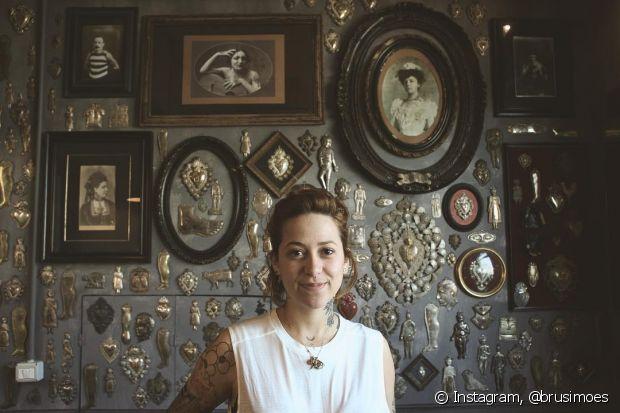 Brunella Simões tem um monte de fãs nas redes sociais e tatua em diferentes lugares do mundo