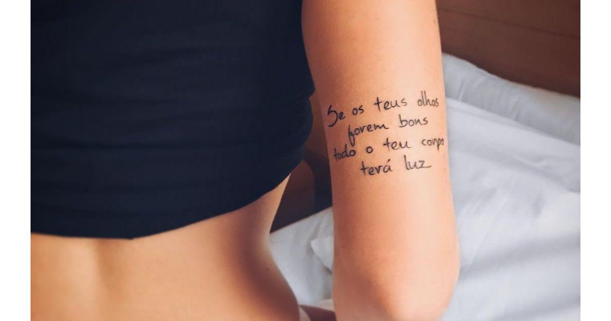 Tatuagens Com Palavras Ou Frases Dicas Para Não Errar Na