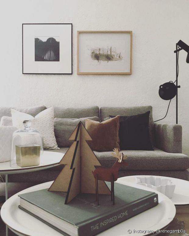 Se sua casa não tiver espaço para uma grande decoração, use os enfeites que preferir