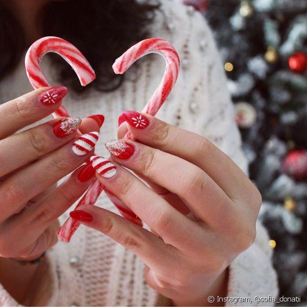 Teste novas técnicas para sua manicure de Natal e combine tendências