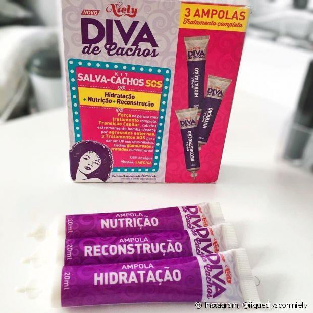 Outra dica de presente são as ampolas de tratamento de Diva de Cachos