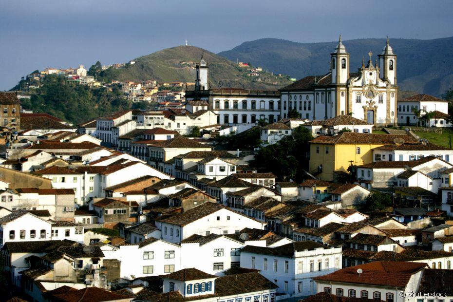 Ouro Preto é conhecida pela beleza das suas igrejas e arquitetura