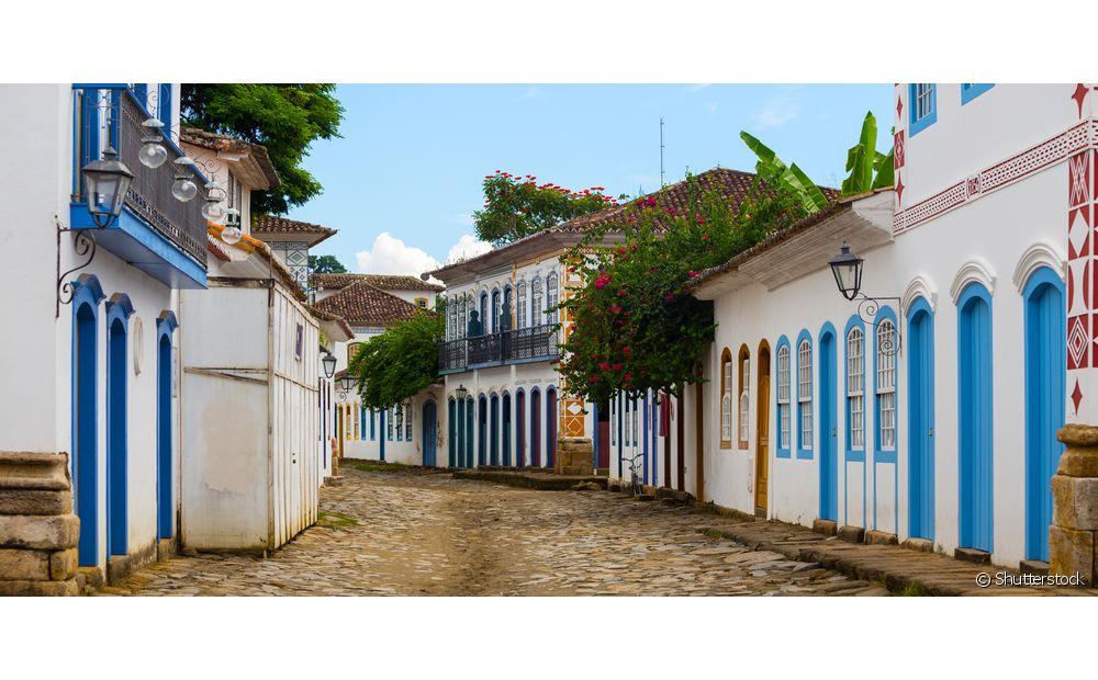 Paraty, no Rio de Janeiro, é famosa pelas suas ruas de pedra e sua arquitetura
