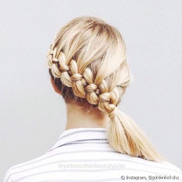 Depois do trançado clássico, a mais pedida no universo de penteados românticos é a trança embutida