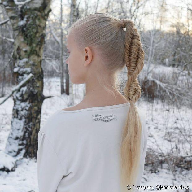 Todo mundo pode fazer a trança DNA, já que ela combina com diferentes tipos e texturas de cabelos