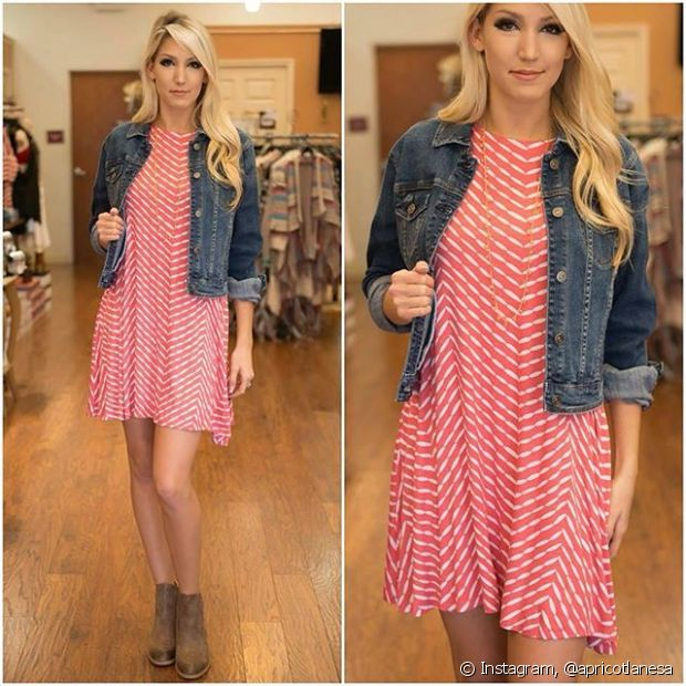 Botas claras e de cano curtinho são um item básico dos looks de outono e combinam perfeitamente com vestidos