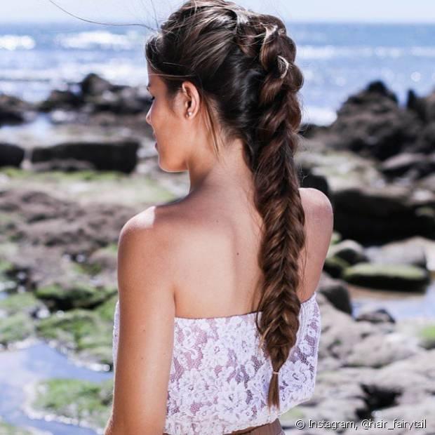 Quanto maior for a quantidade cabelo você tiver, mais bonita pode ficar sua trança