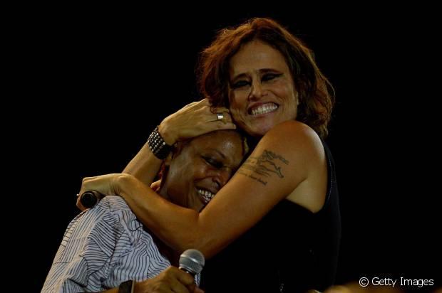 Divas do samba, Martnália e Zélia Duncan participaram da homenagem à cantora Cássia Eller no Rock in Rio 2015