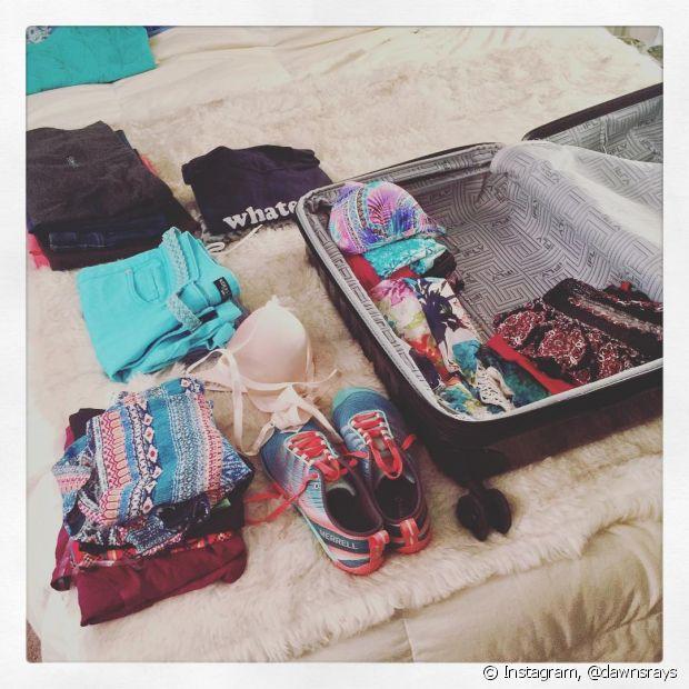 Coloque na mala apenas o que você vai precisar na sua viagem