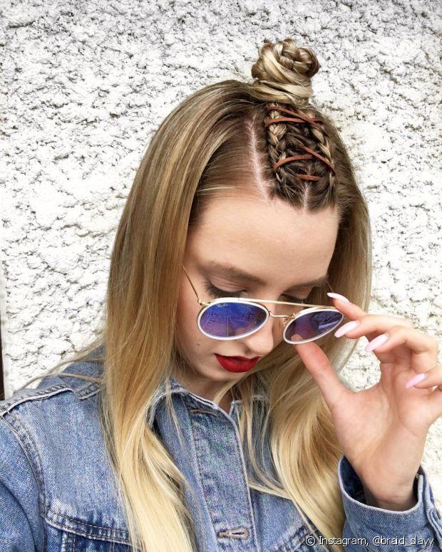 Você pode variar os penteados para usar com a trança espartilho
