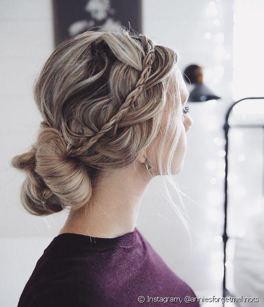 A trança é perfeita para complementar penteados clássicos