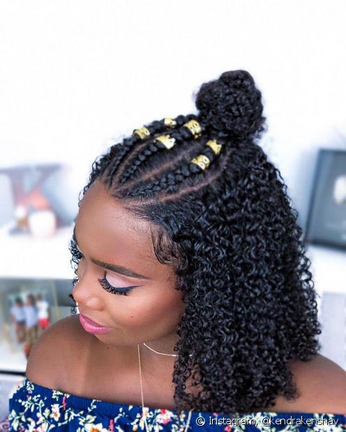 A trança é um penteado versátil que pode ser feito no topo da cabeça, na lateral dos fios ou no cabelo inteiro (Foto: Instagram, @kendrakenshay)