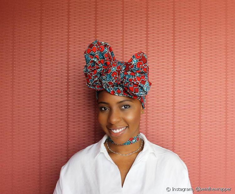 O turbante de cabelo pode ser o protagonista de um look básico do dia a dia (Foto: Instagram, @bemthewrapper)
