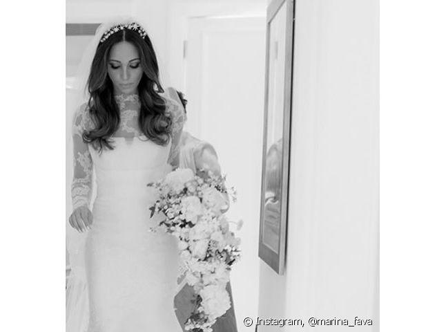 Cabelos soltos ondulados também podem ficar incríveis na noiva