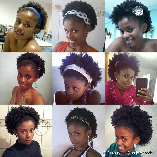 Se seu cabelo ainda está curtinho por causa do Big Chop, você pode investir em acessórios como presilhas, arcos e tiaras