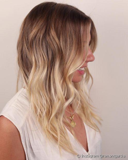 O ombré hair consiste em um suave degradê loiro (Instagram @ramontgarcia)