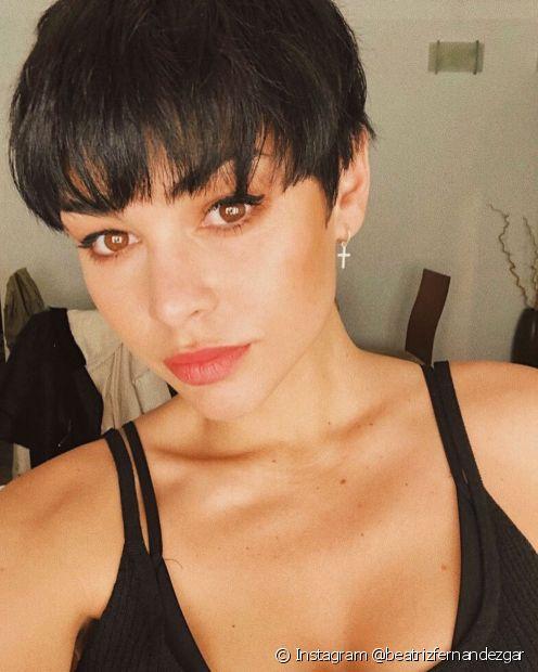 O pixie hair garante um visual moderno (Instagram @beatrizfernandezgar)