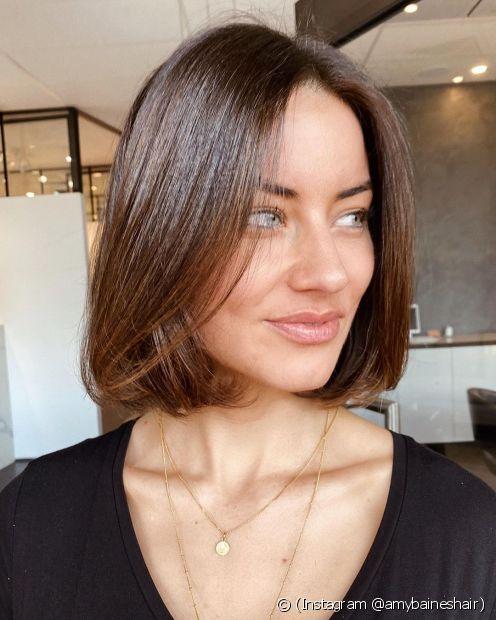 Existem diversas opções de cabelo curto ((Instagram @amybaineshair))