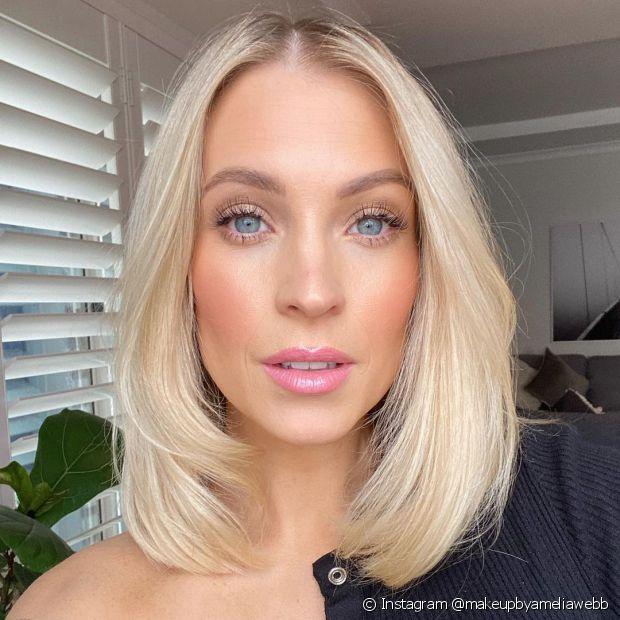 Escolha um corte que valorize seu formato de rosto (Instagram @makeupbyameliawebb)
