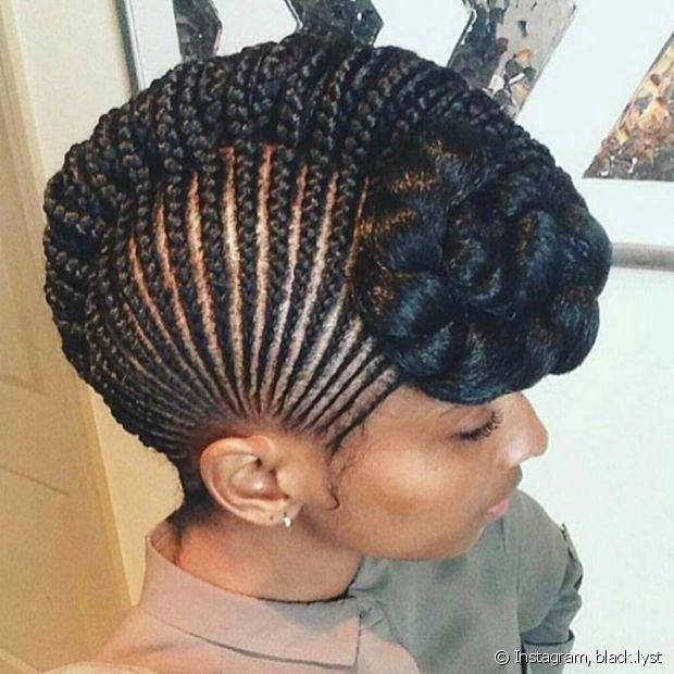 Aposte em um penteado diferente para deixar o look ainda mais poderoso!