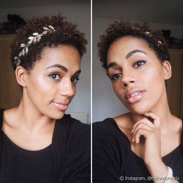 As tiaras deixam seu big chop mais estiloso