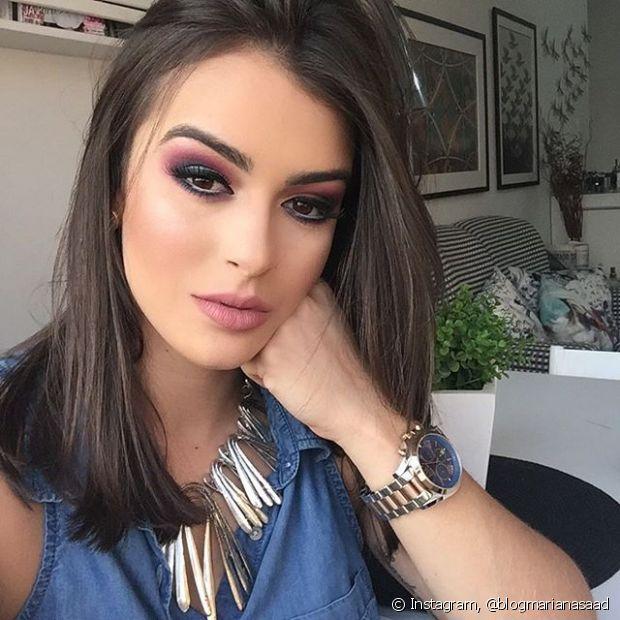 Mariana Saad gosta de deixar os fios bem lisos