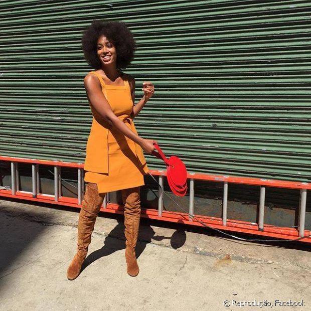Solange Knowles, a irmã mais nova da Beyoncé, é uma das estilosas que segura muito bem o black power