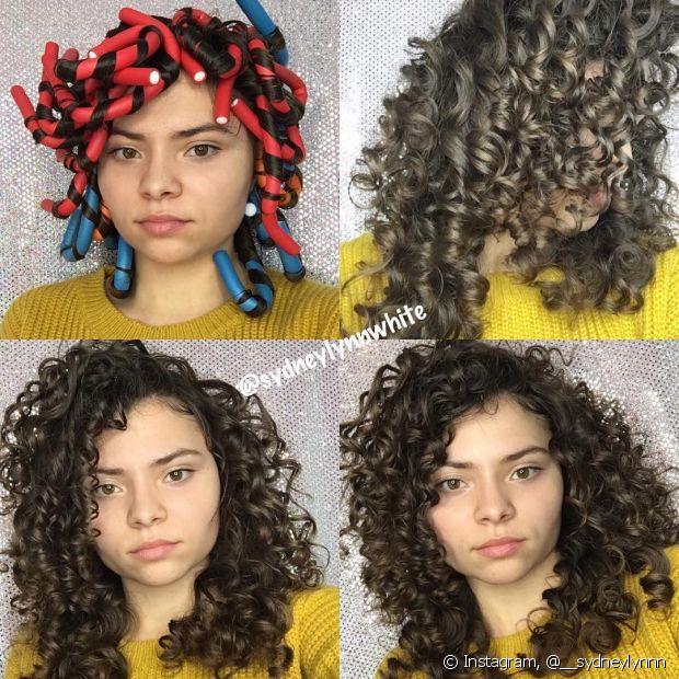 Com os flexi rods é possível conseguir um resultado mais próximo de um cabelo natural