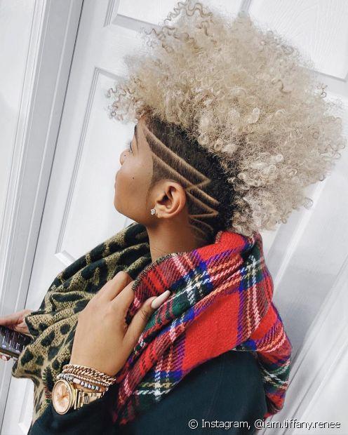 O tappered hair é o corte perfeito para as divas que querem aproveitar o verão 2020 para passar pela transição capilar (Foto: Instagram, @iam.tiffany.renee)