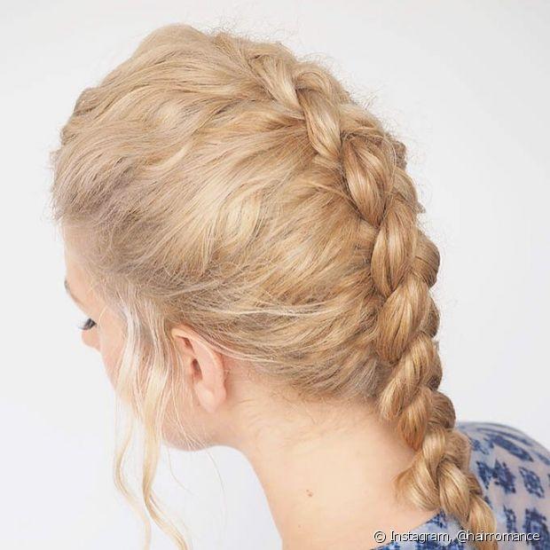 As tranças embutidas são super modernas e um dos penteados com tranças mais indicados para os dias de calor. (Foto: Instagram @hairromance)