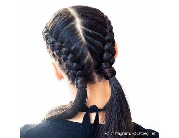 Você também pode fazer as boxer braids rente à raiz e deixar a parte debaixo com os fios soltos. Fica muito estiloso, né?