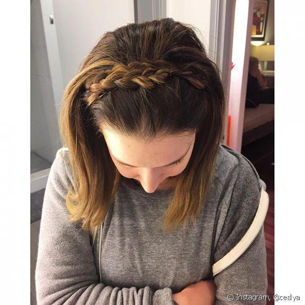 Esse penteado fica incrível em qualquer textura de cabelo, seja ele liso ou cacheado