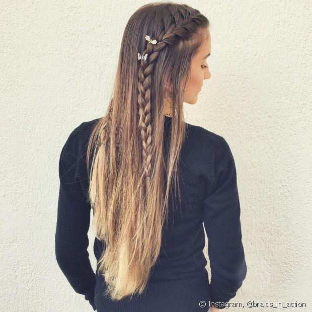 Os melhor dos cabelos longos é a variedade de penteados que você pode fazer nos fios
