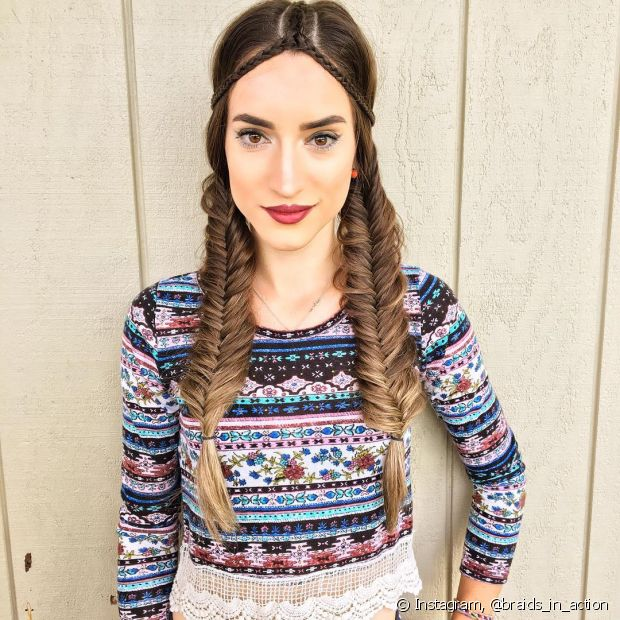 A brasileira Iris Araújo é a criadora do Instagram @braids_in_action, totalmente voltado para penteados com tranças