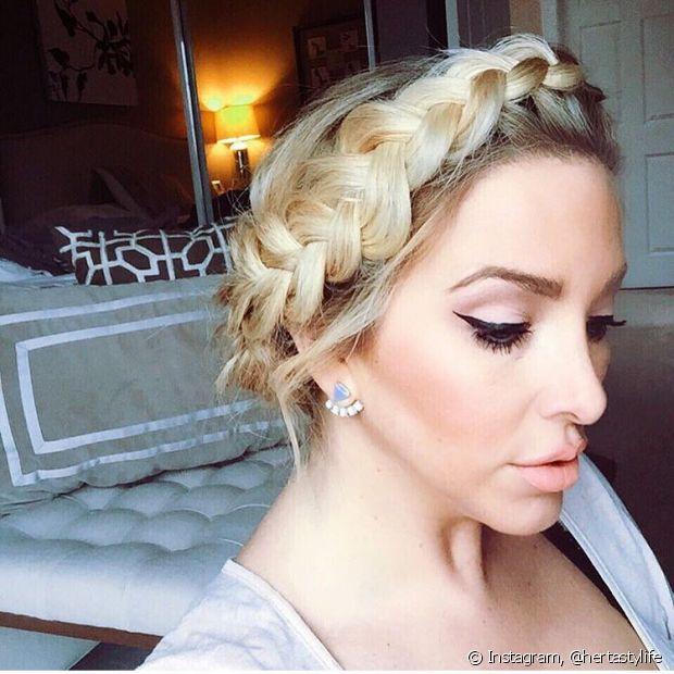 A coroa de trança parece difícil de fazer, principalmente nos cabelos curtos, mas dá para fazer, sim!