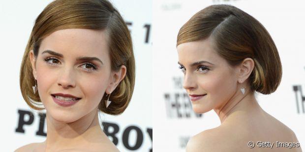 Emma Watson criou uma versão clássica e polida do long bob falso para o tapete vermelho