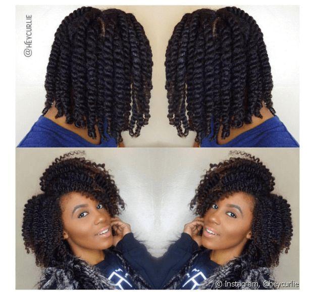 Veja como fica o cabelo antes e depois do twist