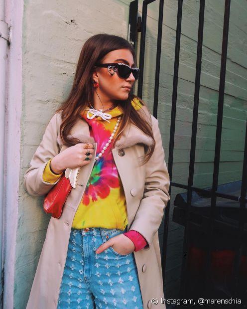 O tie dye é aposta para o verão 2020 (Foto: Instagram, @marenschia)