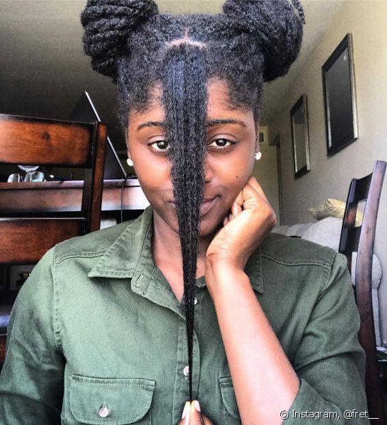Cabelo black power: veja algumas dicas de finalização que ajudam a manter o volume (Foto: Instagram, @fret__)