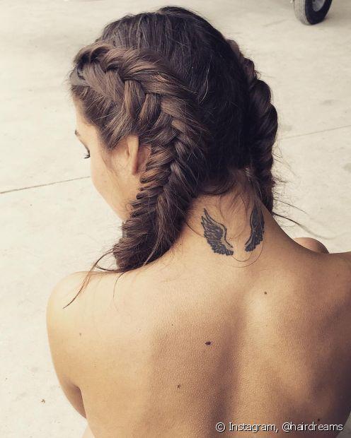 A trança boxeadora pode ser feita em diferentes tamanhos de cabelo (Foto: Instagram @hairdreams)