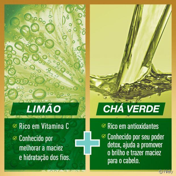 Limão e Chá Verde são os ingredientes da linha Niely Gold Detox para purificar sem ressecar os cabelos oleosos e mistos