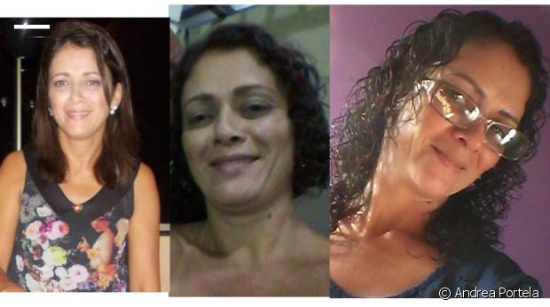 'Foi muito esquisito me descobrir cacheada, pois tinha o meu cabelo liso até uns 15 anos atrás. Resolvi usar quimica para ficar mais 'arrumado'. Fiquei desempregada e com dificuldades, não fui mais ao salão, aí redescobri meus cachos e estou amando', contou Andrea Portela