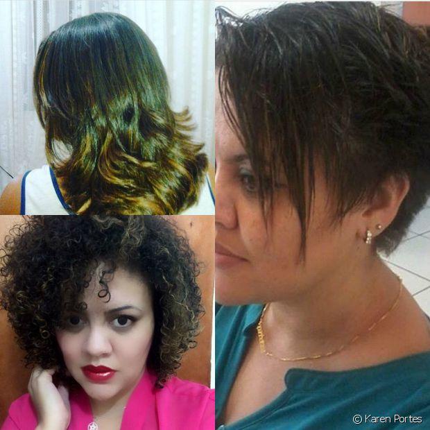 'Minha vó começou alisar meus cabelos quando eu tinha 3 anos, nunca soube como era. Sempre que queria ter meus cachos de volta, me diziam que era impossível e eu, por ignorância, acreditava. Até que um dia me perguntei: 'se meus cachos nunca irão voltar, porque então eu tenho que alisar de 3 em 3 meses? Genética não muda!' Foi então que, em outubro de 2014, fiz meu BC. Desde então está natural!'