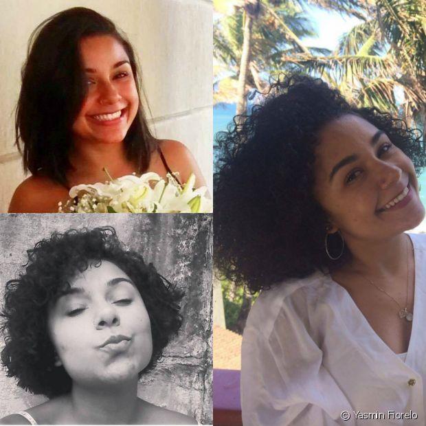 'Eu decidi fazer o bc porque eu passei mais de dez anos alisando o cabelo, queria saber como meu cabelo era de verdade e amei o resultado', contou Yasmin Fiorelo