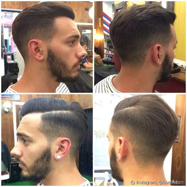 Com ambas laterais levemente raspadas e volume no topo da cabeça, o undercut se adapta a qualquer tipo de fio ou formato de rosto