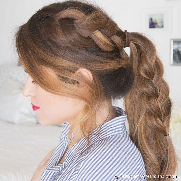 A trança também pode incrementar o rabo de cavalo tradicional - @hair.and.ginger