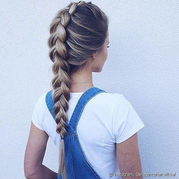 A trança embutida é perfeita para o bad hair day - @elegancehairofficial